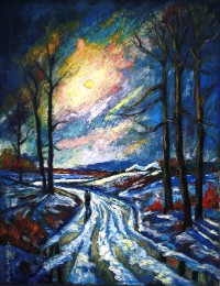 Doroga (Road - Nadia's Soul) painting