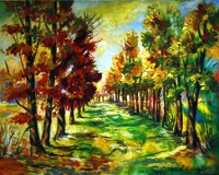 Autumn in Germany painting