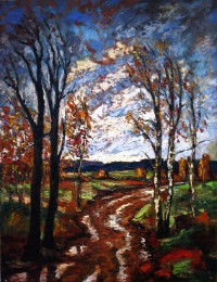 Doroga #2 (The Road) painting