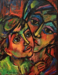 Woman Listening With Child painting