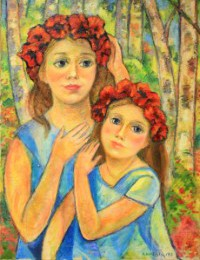 """Maki"""" Poppies painting"""