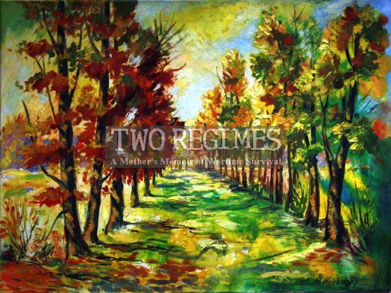 Autumn in Yeysk painting