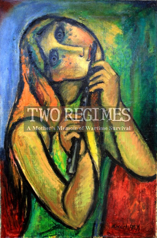 Rusia (Woman with Flute) painting